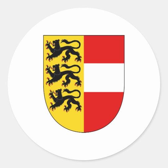 Official Carinthia Coat of Arms Austria Symbol Round