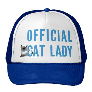 Official Cat Lady Hat Blue