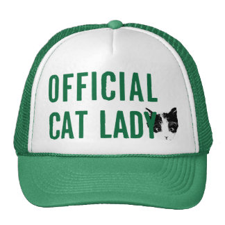 Official Cat Lady Hat Green
