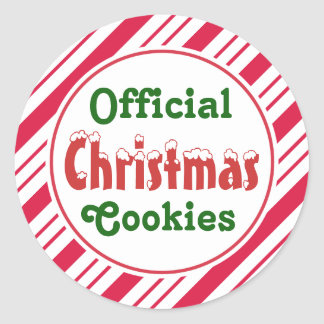 Official Christmas Cookies Stickers