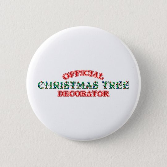 Official Christmas Tree Decorator (Red) 6 Cm Round Badge