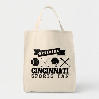 Official Cincinnati Sports Fan Grocery Tote Bag