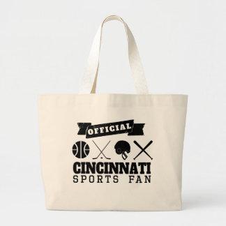 Official Cincinnati Sports Fan Jumbo Tote Bag