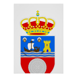 Official Coat of Arms Cantabria Spain Symbol Logo Poster