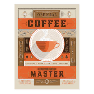 Official Coffee Brew Master Postcard