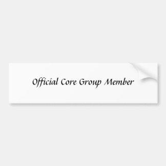 Official Core Group Member Bumper Sticker