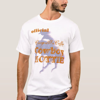 official Cowgirl On Coffee COWBOY HOTTIE T-Shirt