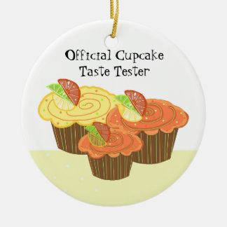 Official Cupcake Taste Tester Christmas Ornament