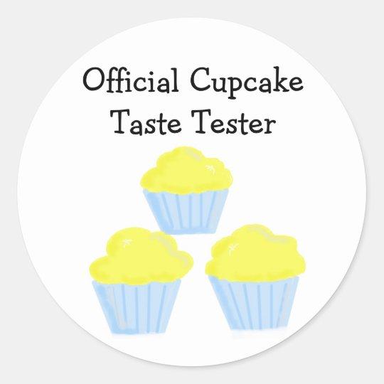 Official Cupcake Taste Tester Round Sticker