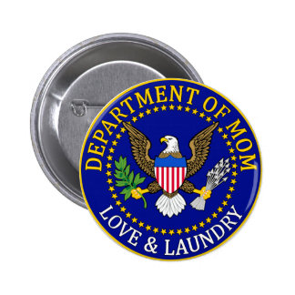Official Department of Mom Seal 6 Cm Round Badge