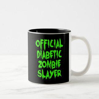 Official Diabetic Zombie Slayer Two-Tone Coffee Mug