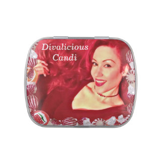 Official Divalicious Candi™ Sweet Treats Jelly Belly Candy Tins