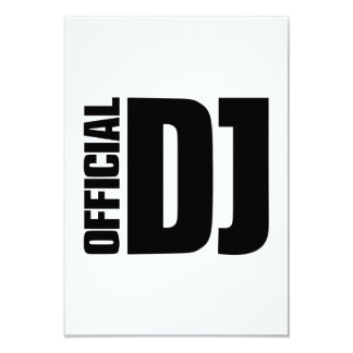 "Official DJ 3.5"" X 5"" Invitation Card"