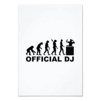 Official DJ Evolution 3.5x5 Paper Invitation Card