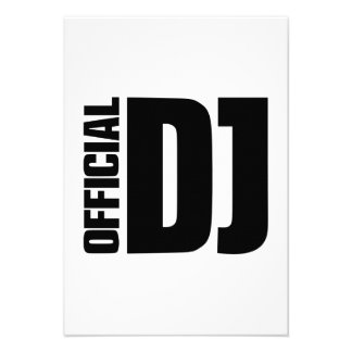 Official DJ Personalized Announcement