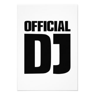 Official DJ Personalized Invitation