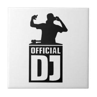 Official DJ Small Square Tile