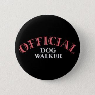 Official Dog Walker - Pink 6 Cm Round Badge
