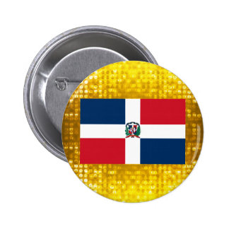 Official Dominican Flag 6 Cm Round Badge