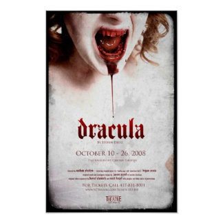 Official Dracula Poster 1 - 11x17 with Bleed