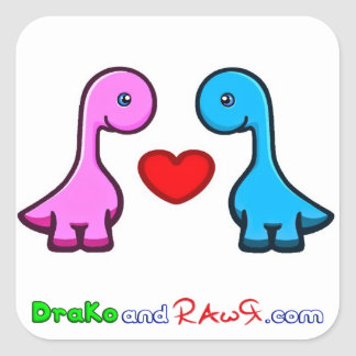 Official DraKo and RAwR Stickers Baby Dinosaurs