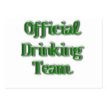 Official Drinking Team Text Image Pack Of Chubby Business Cards