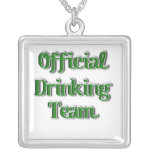 Official Drinking Team Text Image Pendants