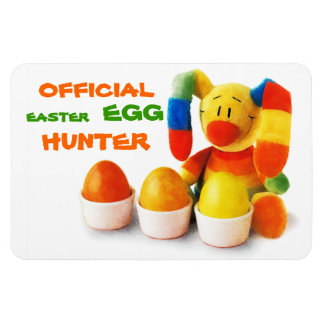 Official Easter Egg Hunter. Easter Gift Magnet