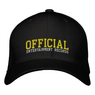 Official Entertainment Fitted Cap Embroidered Hat