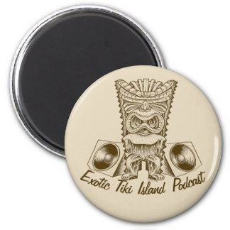 Official Exotic Tiki Island Podcast Artwork Button Magnet
