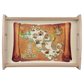 Official Exotic Tiki Island Podcast Artwork Serving Tray