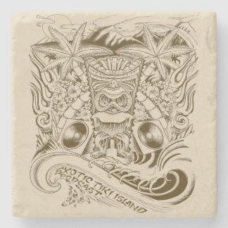 Official Exotic Tiki Island Podcast Artwork Stone Coaster
