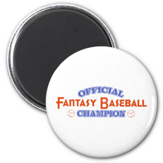 Official Fantasy Baseball Champion Fridge Magnets