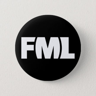 Official FML Badge: FML White/Black 6 Cm Round Badge