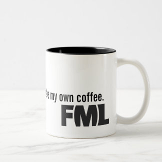 Official FML Mug: Homemade Two-Tone Coffee Mug