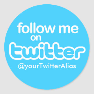 "Official ""Follow Me on Twitter"" Sticker"