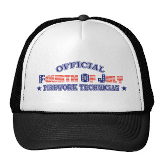 Official Fourth / 4th Of July Firework Technician Cap