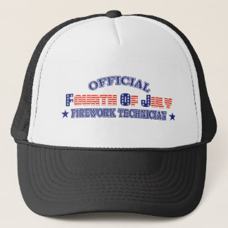 Official Fourth / 4th Of July Firework Technician Trucker Hat