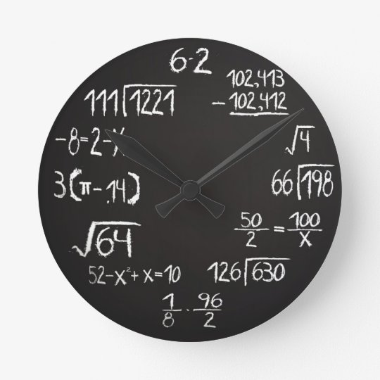 Official Geek Math Analogue Wall Clock