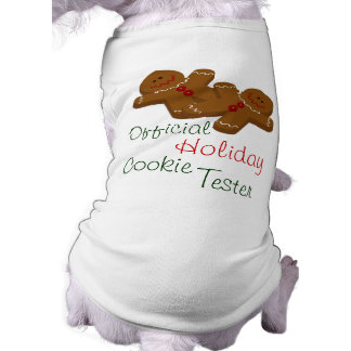 Official Holiday Cookie Tester Dog Shirt