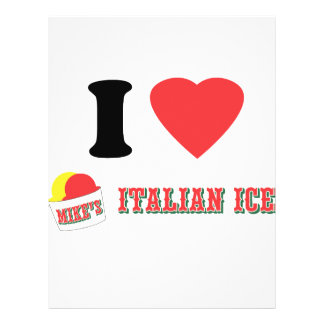 "Official ""I LOVE MIKE'S ITALIAN ICE"" Brand 21.5 Cm X 28 Cm Flyer"