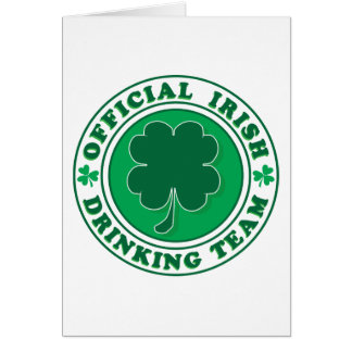 Official-Iris-Drinking-Team Greeting Cards