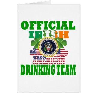 Official Irish american drinking team Greeting Card