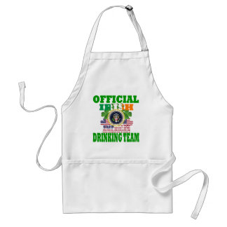Official Irish american drinking team Standard Apron