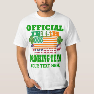 Official Irish American drinking team T-Shirt