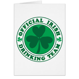 Official-Irish-Drinking-Team 2-png Greeting Cards