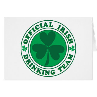 Official-Irish-Drinking-Team 2-png Greeting Card