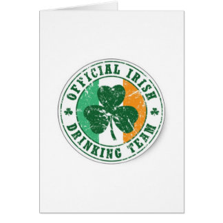 Official Irish Drinking Team Greeting Cards