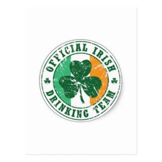 Official Irish Drinking Team Postcards