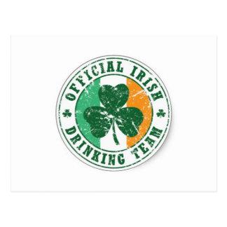 Official Irish Drinking Team Post Cards